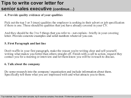 senior  s executive cover letter      tips to write cover letter for senior  s executive