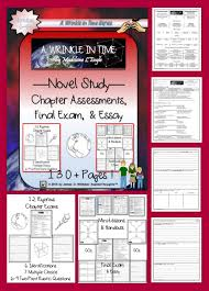 a wrinkle in time by madeleine l engle novel study chapter a wrinkle in time by madeleine l engle 12 chapter assessments 1 final and essay prompts pages this is the perfect companion for a novel study about