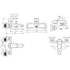 <b>Смеситель для ванны Bravat</b> Alfa F6120178CP-01 в Москве ...