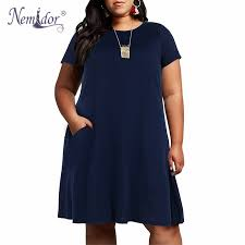<b>Nemidor Women Vintage Short</b> Sleeve O neck 50s Party A line ...