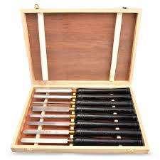<b>HSS Lathe Chisel Set</b> 8 PC Set For Wood Turning Hardwood ...