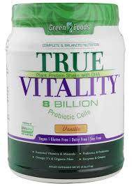 Green Foods <b>True Vitality Plant</b> Protein Shake with DHA Vanilla ...
