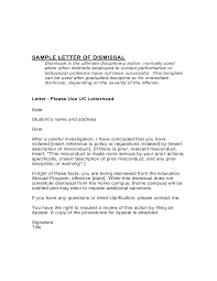letter of dismissal template shopgrat sample letter of dismissal template template