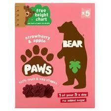 <b>Bear Fruit</b> Paws Dino 5 X 20G - Tesco Groceries
