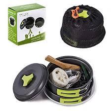 <b>TTLIFE</b> Camping Cookware <b>12</b> SETS Mess Kits (Multifunctional ...