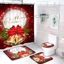 Alishomtll 4 Pcs Merry Christmas Shower Curtain Sets ... - Amazon.com