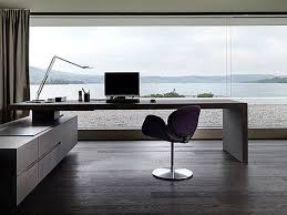 f comely home offices decor artistic and stylish space design with modern workspace design and beautiful lake views along wooden floor and half glass wall beautiful cool office furniture