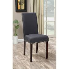 transitional dining chair sch: dhi nice nail head upholstered dining chair set of  multiple colors walmartcom