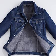 Plus Size <b>S</b>-<b>5XL Fashion</b> Denim Jacket <b>Men Winter</b> Wool Liner ...
