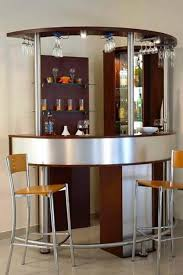 corner curved mini bar for home with hanging wine glass rack bar furniture designs