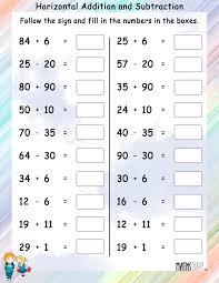 Addition – Grade 2 Math WorksheetsHorizontal Addition and Subtraction