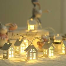 GloryStar 2m/<b>3m LED</b> Light String Wood Small House Shape 10/<b>20</b> ...