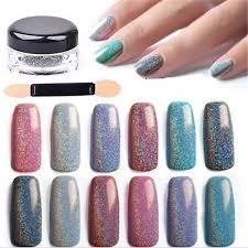 Hot <b>2g</b>/<b>Box Holographic Laser Nail</b> Art Glitter Powder Rainbow ...