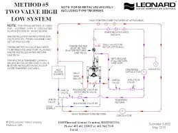 leonard valve company   piping diagramspiping diagrams