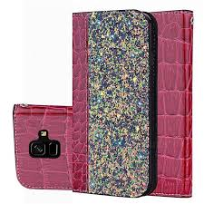 Shiny <b>Crocodile Pattern</b> Stitching Magnetic Closure Flip Holster ...
