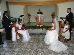 photo essay double wedding in haina n republic engage both couples start the ceremony led by pastor edilio balbuena from the mother church