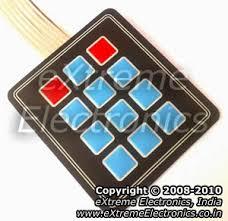 4x3 <b>4x4</b> Matrix Keypad Interface with Atmel AVR Microcontrollers