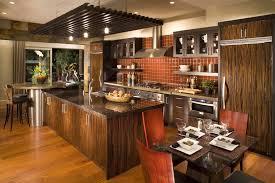 decor kitchen kitchen:  awesome italian wooden kitchen set decor with recessed light plus maroon backsplash tile