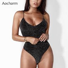 <b>Aocharm Strappy Backless Bodysuit</b> 2019 Women Summer Sexy ...