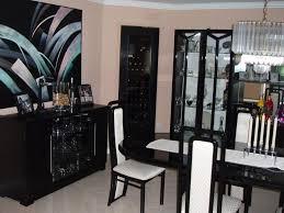 furniture awesome black lacquer furniture for dining room with chairs and table completed with candle black lacquer dining room