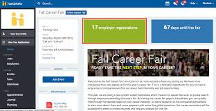 how do i view the employers who will be at an upcoming career fair click fairs on the left navigation bar click on the number of employer registrations