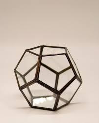 "Lantern ""Disco"" copper & glass <b>handmade</b> diameter <b>15 cm</b> - Fenalie"