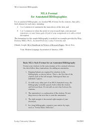 annotated bibliography mla style FAMU Online