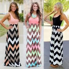 Дамы платье <b>мода</b> Sexy <b>женщин</b> полосатой печатных макси ...