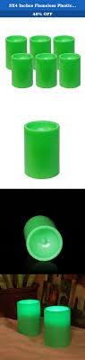 textured slim wax flameless pillar