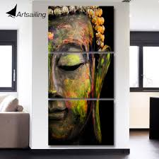 Artsailing wall art <b>HD print 3 piece</b> canvas art Buddha painting Wall ...