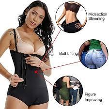 Firm Control Open Bust Bodysuit - Latex Shapewear <b>Faja</b> Strapless ...