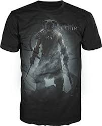 Bioworld The Elder Scrolls V: <b>Skyrim</b> Men's Black <b>T</b>-<b>Shirt Tee Shirt</b>
