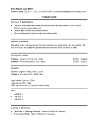 football coach resume template coaching resume sample
