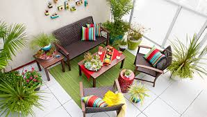 furnished balcony with outdoor accessories balcony furnished small