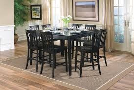 black kitchen dining sets:  dining table pcs black counter height dining table uamp  stools set black dining table