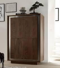 uk storage modern living nuvola modern four door storage cabinet in cognac wood effect finish