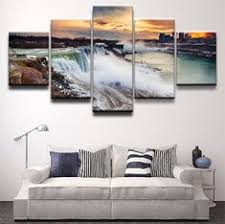 <b>5 Pieces HD</b> Print Painting Snow Quiet Streets Of The City Picture in ...