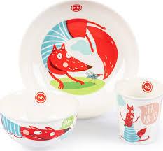 Набор детской посуды <b>Happy Baby</b>, фарфоровый (<b>тарелка</b> ...