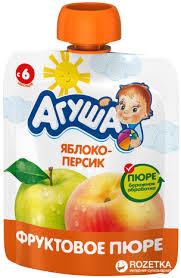 ROZETKA | <b>Фруктовое пюре Агуша</b> Яблоко / персик с 6 месяцев ...