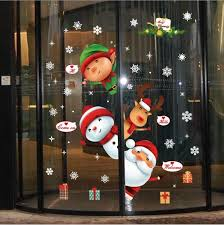 Festival Doors Windows <b>Decoration</b> Shop Window Glass Scene ...