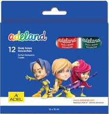 Ответы на вопросы <b>Adel ADELAND 12 цветов</b> 15мл. (234-0612-100)