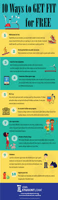 ways to get fit for infographic student loan coach 10 ways to get fit for infographic