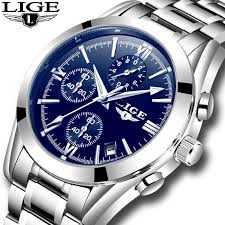 2018 New <b>LIGE Mens Watches Top</b> Brand Luxury Stopwatch Sport ...