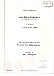 nanny lovingmaternity common core skills certificate for ofsted registration