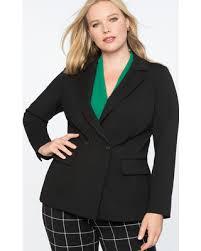 Amazing Deal on 9-to-5 Stretch Work 2 Button Blazer - Black