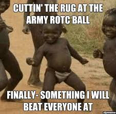 Y U No   Cuttin' the rug at the Army ROTC Ball Finally- something ... via Relatably.com