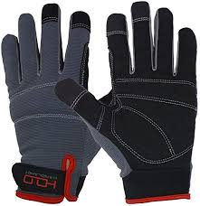Handlandy Mens Work Gloves Touch <b>screen</b>, Synthetic Leather ...