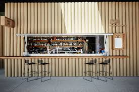 cardboard tubes are the material choice for this pop up in sydney cardboard tubes