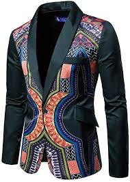 African <b>National Style</b> Printed Long Sleeve Casual <b>Suit</b> Jacket ...