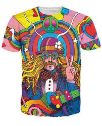Check out this insanely vibrant <b>Hippie Musician</b> T-Shirt by <b>artist</b> ...